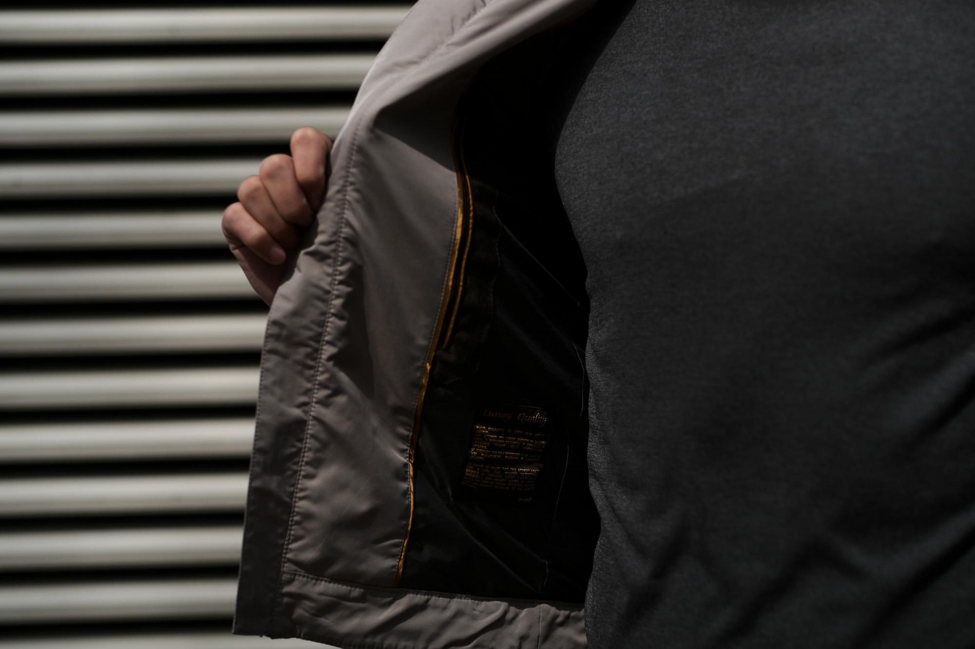MOORER(ムーレー) VANGI-KM1(バンジー KM1) ナイロン シングル ライダースジャケット MARMO(グレー・32) Made in italy (イタリア製)  2020春夏新作 愛知 名古屋 altoediritto アルトエデリット