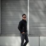 MOORER(ムーレー) VANGI-KM1(バンジー KM1) ナイロン シングル ライダースジャケット NERO(ブラック・08) Made in italy (イタリア製)  2020春夏新作のイメージ