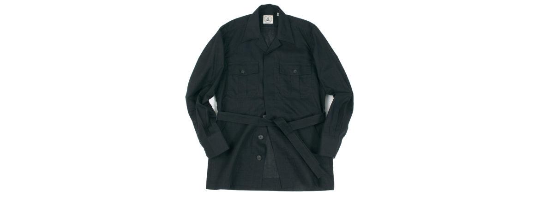 ORIAN (オリアン) LARMY リネンコットン サファリ ジャケット BLACK (ブラック・90) Made in italy (イタリア製) 2020 春夏新作 【入荷しました】【フリー分発売開始】 愛知 名古屋 altoediritto アルトエデリット