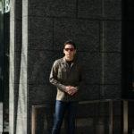 ORIAN (オリアン) LARMY リネンコットン サファリ ジャケット KHAKI (カーキ・75) Made in italy (イタリア製) 2020 春夏新作のイメージ