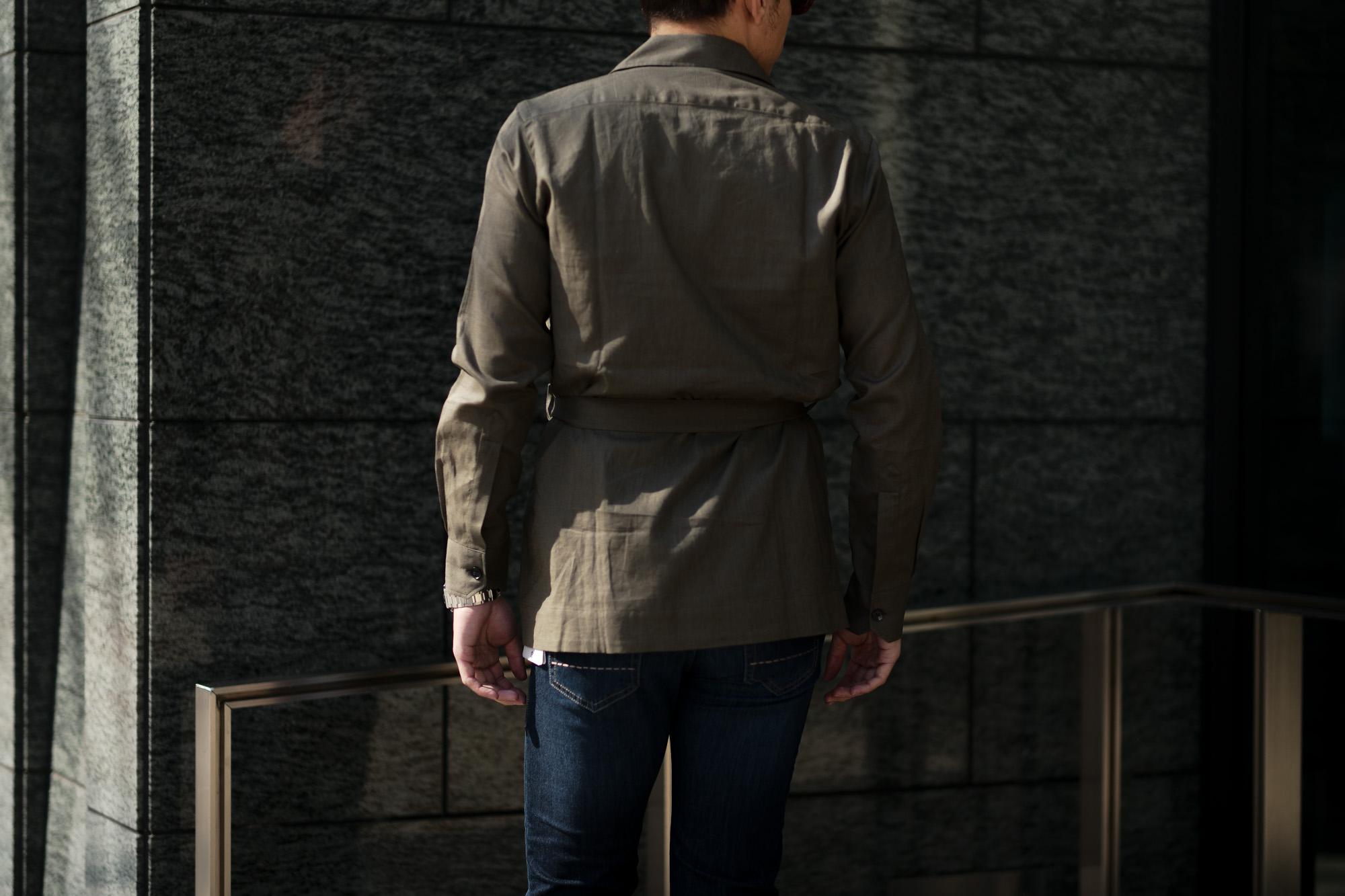 ORIAN (オリアン) LARMY リネンコットン サファリ ジャケット KHAKI (カーキ・75) Made in italy (イタリア製) 2020 春夏新作 愛知 名古屋 altoediritto アルトエデリット