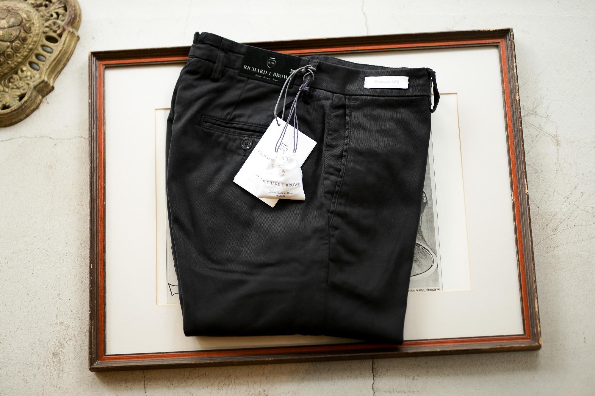 RICHARD J.BROWN(リチャードジェイブラウン) SINGAPORE (シンガポール) ストレッチ リヨセル パンツ BLACK (ブラック・T166 999) MADE IN ITALY (イタリア製) 2020 春夏新作 愛知 名古屋 altoediritto アルトエデリット ジーンズ