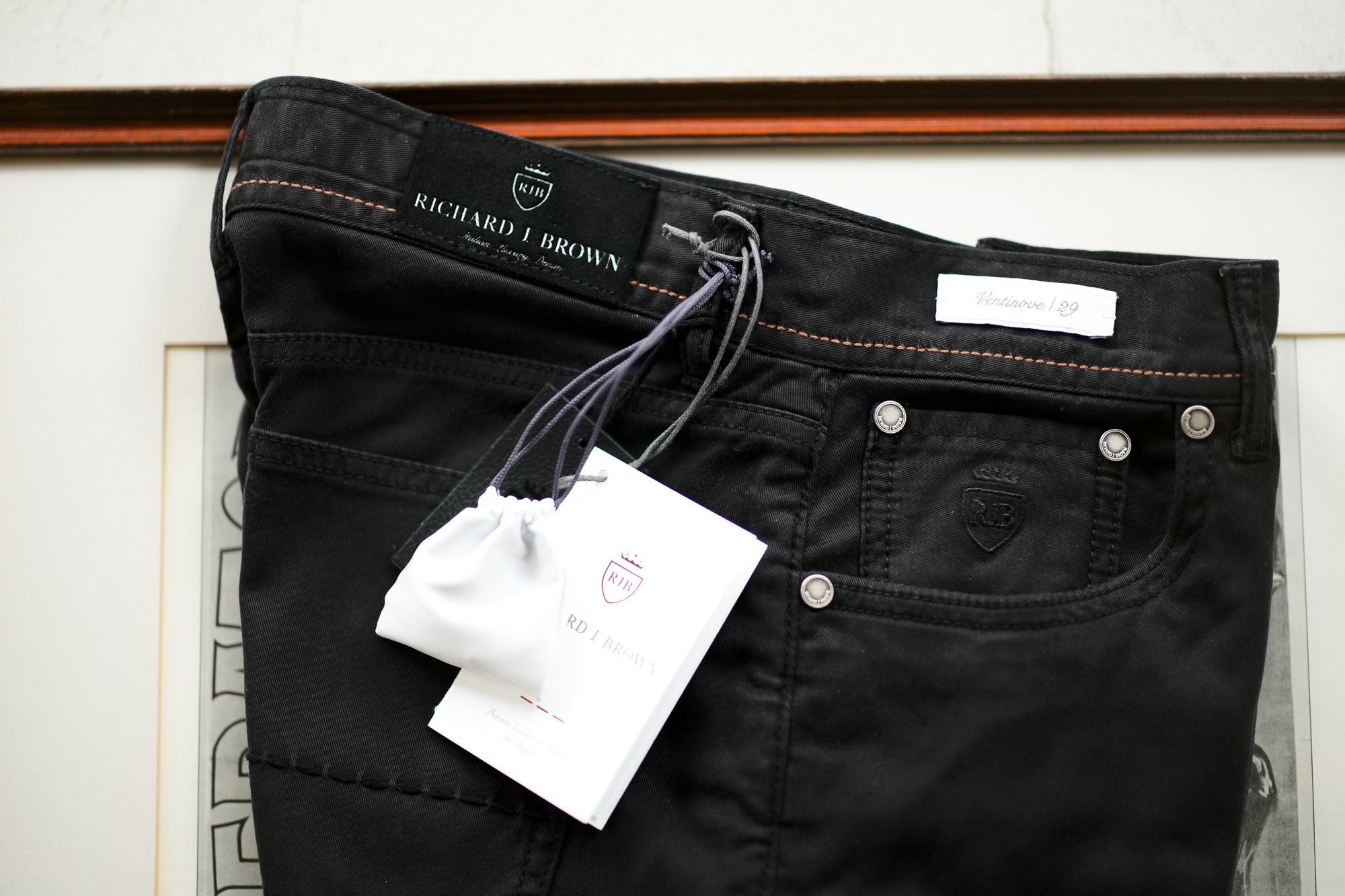RICHARD J.BROWN(リチャードジェイブラウン) TOKIO (トウキョウ) ストレッチ リヨセル パンツ BLACK (ブラック・T166 999) MADE IN ITALY (イタリア製) 2020 春夏新作 愛知 名古屋 altoediritto アルトエデリット ジーンズ