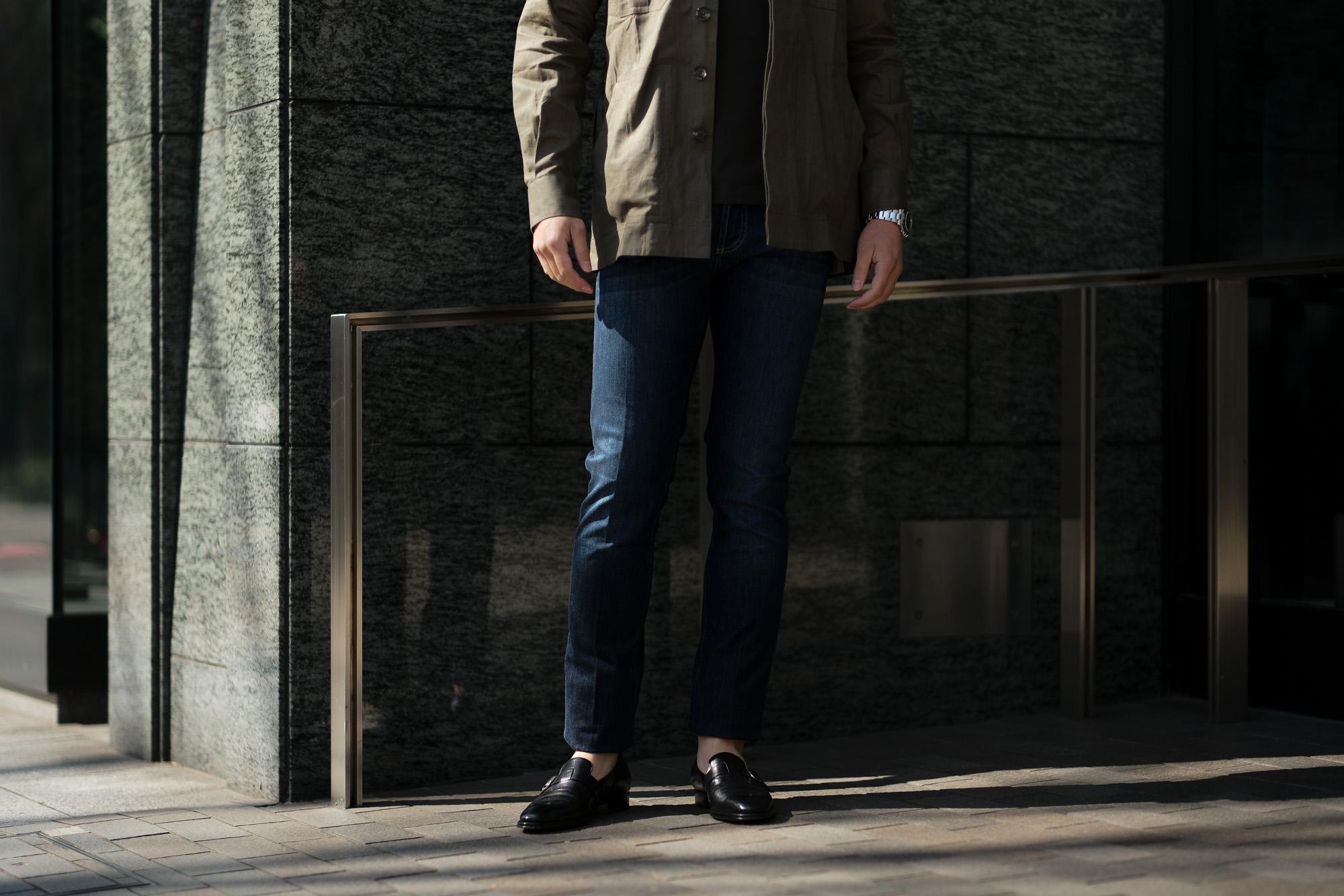 RICHARD J.BROWN(リチャードジェイブラウン) TOKYO(トウキョウ) T41 W209 CF BGG ストレッチ デニム パンツ   BLUE(ブルー) MADE IN ITALY (イタリア製)  2020春夏新作 richardjbrown altoediritto アルトエデリット デニムパンツ ジーンズ