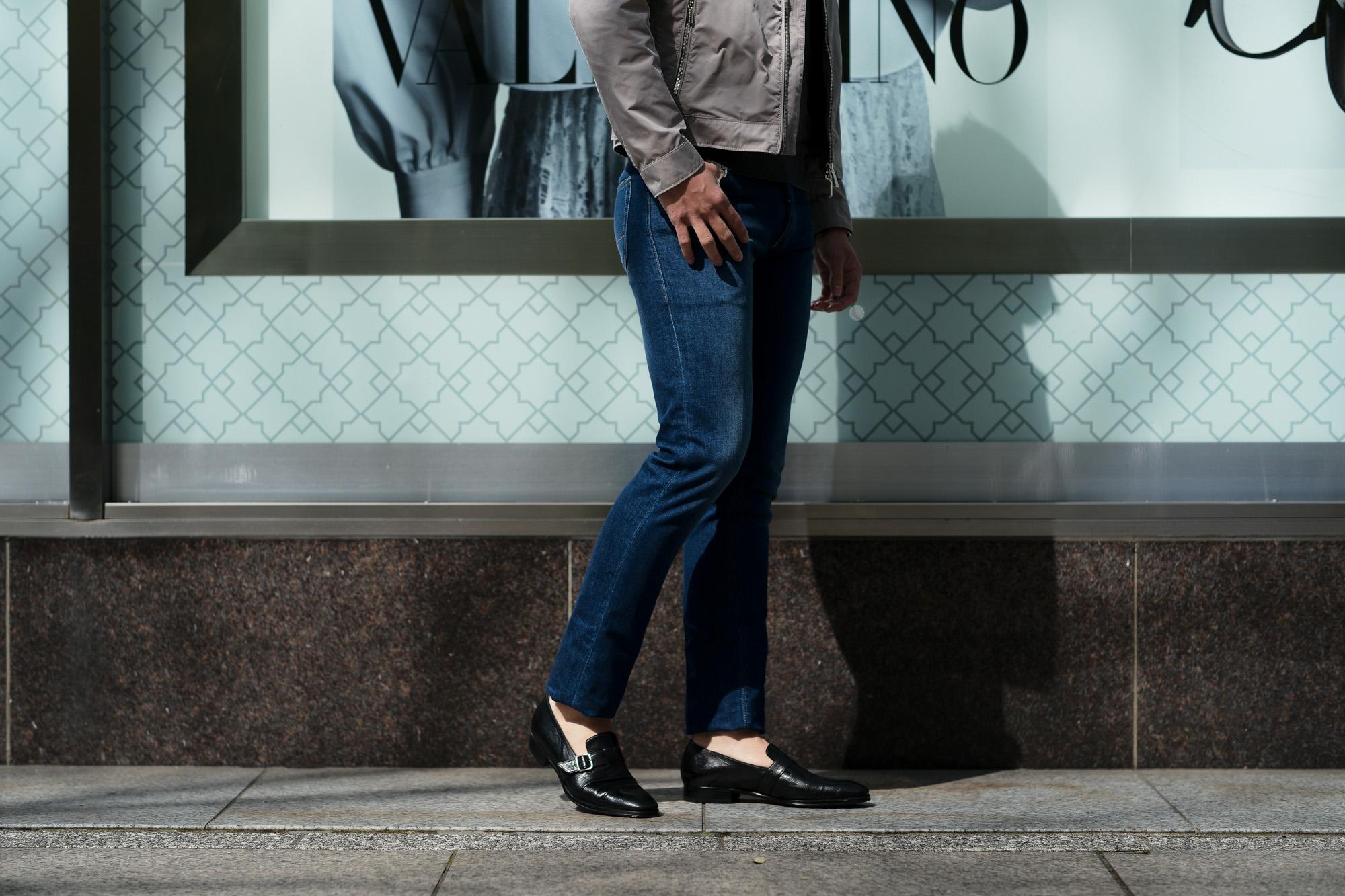 RICHARD J.BROWN(リチャードジェイブラウン) TOKYO(トウキョウ) T99 W224 CM BGA ストレッチ デニム パンツ   BLUE(ブルー) MADE IN ITALY (イタリア製)  2020春夏新作 richardjbrown altoediritto アルトエデリット デニムパンツ ジーンズ