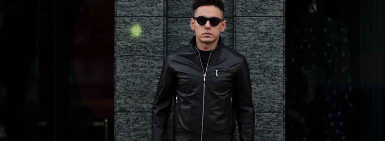 SILENCE(サイレンス) Single Leather Jacket (シングルレザー ジャケット) Lambskin Nappa Leather (ラムナッパ レザー) シングル ライダース ジャケット NERO (ブラック) Made in italy (イタリア製) 2020 春夏新作 愛知 名古屋 altoediritto アルトエデリット レザージャケット