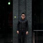 SILENCE(サイレンス) Single Leather Jacket (シングルレザー ジャケット) Goatskin Leather (ゴートスキンレザー) シングル ライダース ジャケット NERO (ブラック) Made in italy (イタリア製) 2020 春夏新作のイメージ