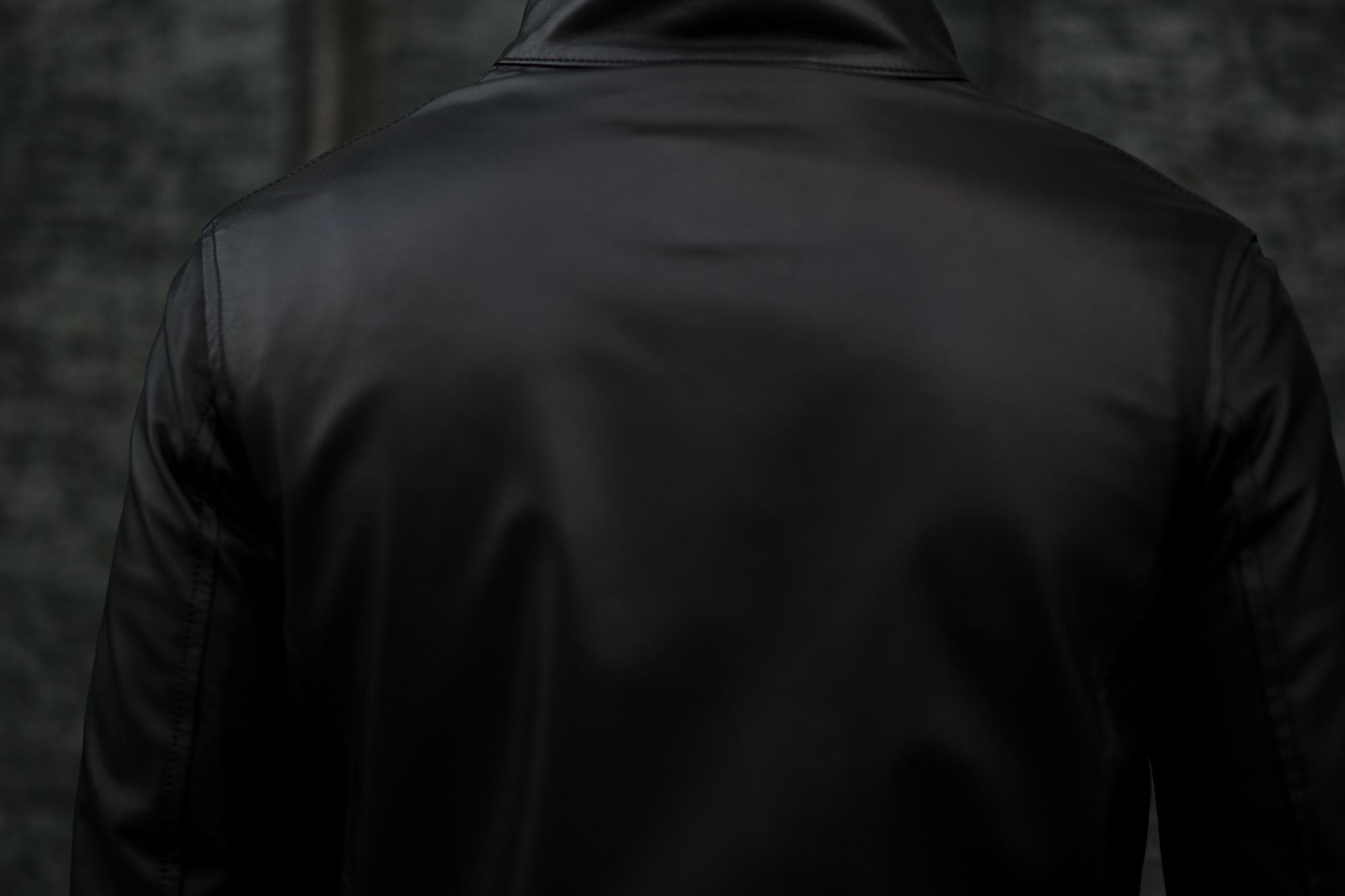 SILENCE(サイレンス) Single Leather Jacket (シングルレザー ジャケット) Goatskin Leather (ゴートスキンレザー) シングル ライダース ジャケット NERO (ブラック) Made in italy (イタリア製) 2020 春夏新作 愛知 名古屋 altoediritto アルトエデリット レザージャケット