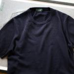 ZANONE(ザノーネ) Knit T-shirt (ニット Tシャツ) コットンニット Tシャツ NAVY (ネイビー・Z0542) made in italy (イタリア製) 2020 春夏新作   【入荷しました】【フリー分発売開始】のイメージ