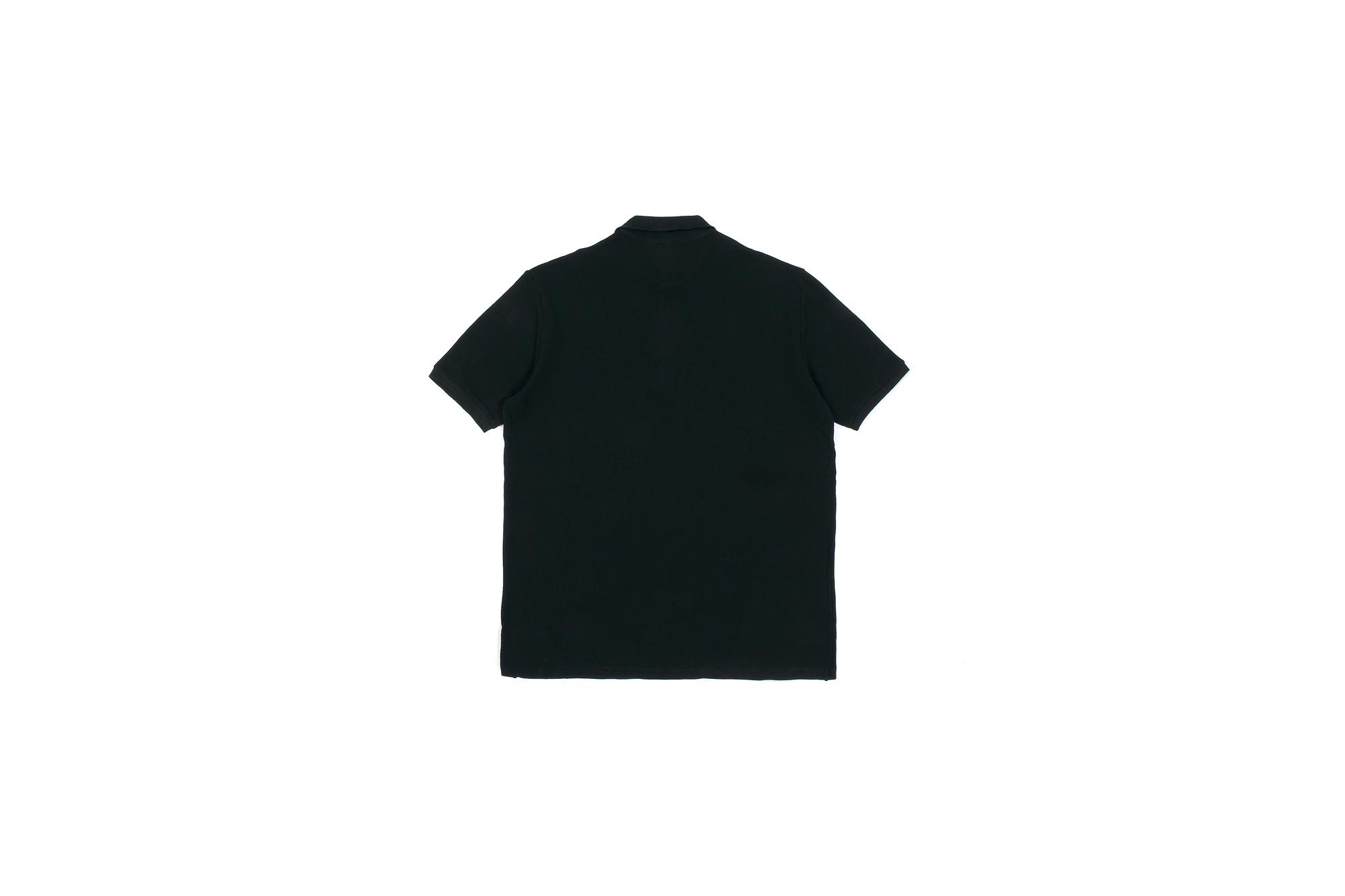 ZANONE(ザノーネ) Pique Polo Shirt ice cotton アイスコットン ピケポロシャツ BLACK (ブラック・Z0015) made in italy (イタリア製) 2020 春夏新作 愛知 名古屋 altoediritto アルトエデリット ポロシャツ