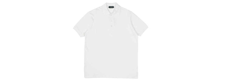ZANONE(ザノーネ) Pique Polo Shirt ice cotton アイスコットン ピケポロシャツ WHITE (ホワイト・Z0001) made in italy (イタリア製) 2020 春夏新作 【入荷しました】【フリー分発売開始】のイメージ