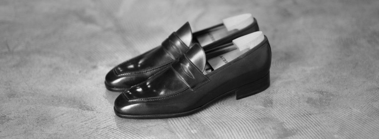 AUBERCY (オーベルシー) LUPIN 3565 Coin Loafer (ルパン) Du Puy Vitello デュプイ社ボックスカーフ ドレスシューズ ローファー NERO (ブラック) made in italy (イタリア製) 2020 秋冬【ご予約開始】のイメージ