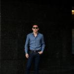 AVINO Laboratorio Napoletano(アヴィーノ・ラボラトリオ・ナポレターノ) Linen Dress Shirts (リネン ドレス シャツ) リネン100% ワイドカラー シャツ BLUE (ブルー) made in italy (イタリア製) 2020 春夏新作のイメージ