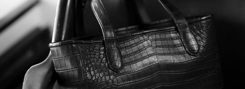 Cisei × 山本製鞄 (シセイ × 山本製鞄) Crocodile Tote Bag Medium (クロコダイル トートバッグ ミディアム) Nile Crocodile Leather (ワニ革) ナイル クロコダイル トート バッグ BLACK(ブラック),NAVY(ネイビー),BROWN(ブラウン) Made in Japan (日本製) 2020 秋冬 【ご予約受付中】のイメージ