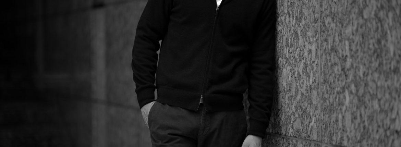 Cruciani(クルチアーニ) Silk Cashmere Cardigan (シルクカシミア カーディガン) Cashmere 100% ハイゲージ シルクカシミヤニット カーディガン BLACK (ブラック・30060) made in italy (イタリア製) 2020秋冬 【ご予約受付中】のイメージ