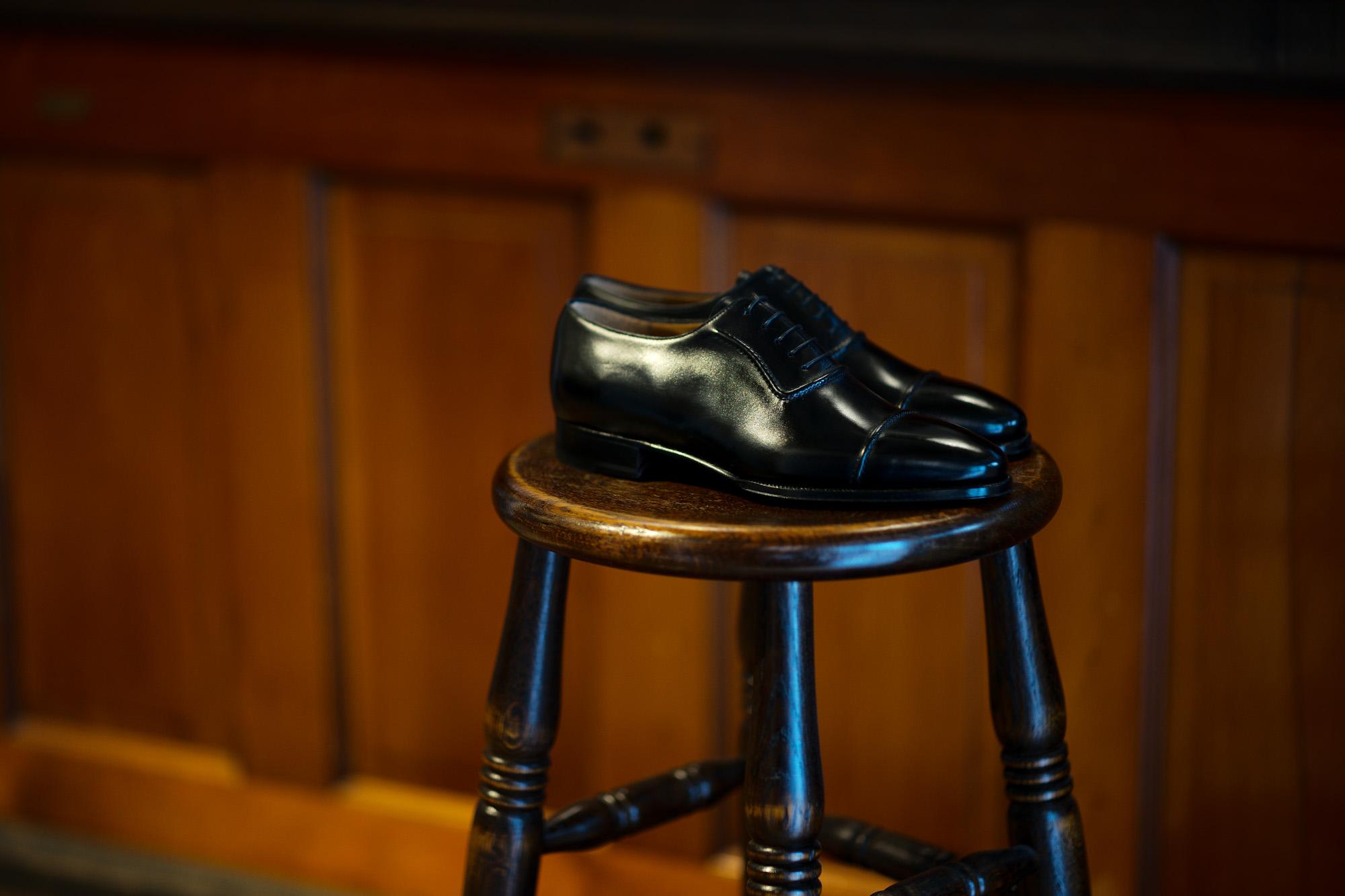 ENZO BONAFE (エンツォボナフェ) ART.3998 mod Straight Tip Shoes Du Puy Vitello デュプイ社ボックスカーフ ストレートチップシューズ NERO (ブラック) made in italy (イタリア製) 2020 春夏新作 【Special Model】【Alto e Diritto 別注】