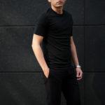FEDELI(フェデーリ) Crew Neck T-shirt (クルーネック Tシャツ) ギザコットン Tシャツ BLACK (ブラック・36) made in italy (イタリア製) 2020 春夏新作のイメージ