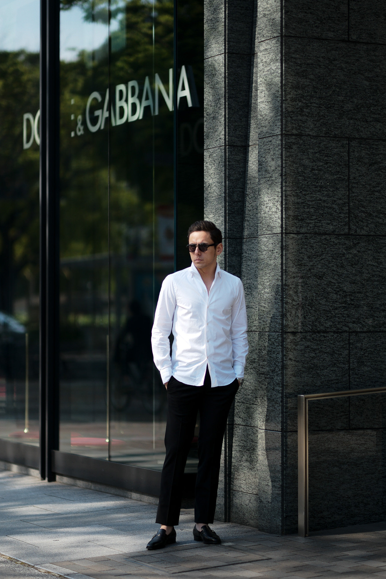 Finamore (フィナモレ) SEUL ITALIAN COLOR STRETCH COTTON SHIRTS ストレッチコットン ワンピースカラー シャツ WHITE (ホワイト・01) made in italy (イタリア製) 2020 春夏新作 愛知 名古屋 altoediritto アルトエデリット