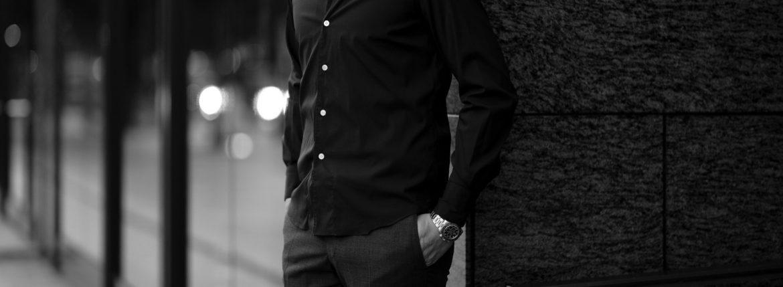 Finamore (フィナモレ) SEUL ITALIAN COLOR DENIM SHIRTS デニム ワンピースカラー シャツ STONEWASH (ストーンウォッシュ・02) made in italy (イタリア製) 2020 秋冬【ご予約受付中】愛知 名古屋 altoediritto アルトエデリット デニムシャツ