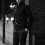 Finamore (フィナモレ) SEUL ITALIAN COLOR DENIM SHIRTS デニム ワンピースカラー シャツ STONEWASH (ストーンウォッシュ・02) made in italy (イタリア製) 2020 秋冬【ご予約受付中】のイメージ