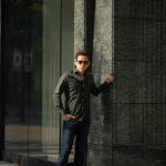 Finamore (フィナモレ) SEUL ITALIAN COLOR STRETCH COTTON SHIRTS ストレッチコットン ワンピースカラー シャツ OLIVE (オリーブ) made in italy (イタリア製) 2020 春夏新作のイメージ