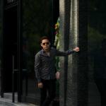 Finamore (フィナモレ) SEUL ITALIAN COLOR COTTON POPLIN SHIRTS コットンポプリン ワンピースカラー シャツ GRAY (グレー・42) made in italy (イタリア製) 2020 春夏新作のイメージ