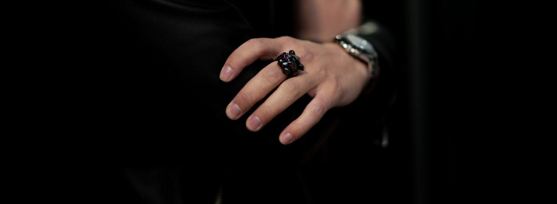 """FIXER(フィクサー) BLACK PANTHER RING """"RUBY"""" BLACK RHODIUM(ブラック ロジウム) ブラック パンサーリング ルビー BLACK(ブラック) 2020のイメージ"""