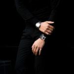 FIXER(フィクサー) LEATHER BRACELET 925 STERLING SILVER(925 スターリングシルバー) カーフ レザー ブレスレット BLACK (ブラック) 【SOLD OUT】のイメージ