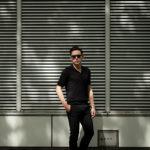 Gran Sasso (グランサッソ) Silk Knit Polo Shirt (シルクニットポロシャツ) SETA (シルク 100%) シルク ニット ポロシャツ BLACK (ブラック・099) made in italy (イタリア製) 2020 春夏新作のイメージ