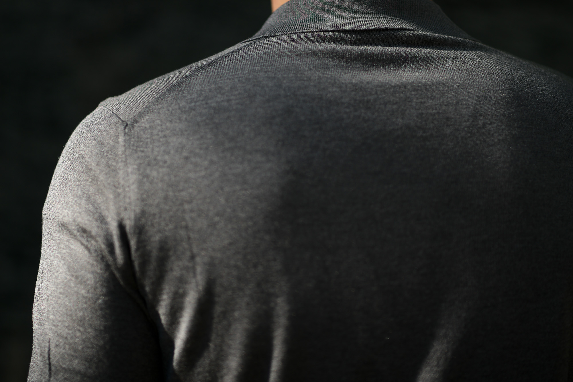 Gran Sasso (グランサッソ) Silk Knit Polo Shirt (シルクニットポロシャツ) SETA (シルク 100%) シルク ニット ポロシャツ GREY (グレー・097) made in italy (イタリア製) 2020 春夏新作 愛知 名古屋 altoediritto アルトエデリット