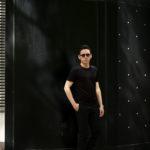 Gran Sasso (グランサッソ) Silk T-shirt (シルク Tシャツ) SETA (シルク 100%) ショートスリーブ シルク Tシャツ BLACK (ブラック・303) made in italy (イタリア製) 2020 春夏新作 愛知 名古屋 altoediritto アルトエデリット