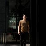 Gran Sasso (グランサッソ) Silk T-shirt (シルク Tシャツ) SETA (シルク 100%) ショートスリーブ シルク Tシャツ GOLD (ゴールド・160) made in italy (イタリア製) 2020 春夏新作のイメージ
