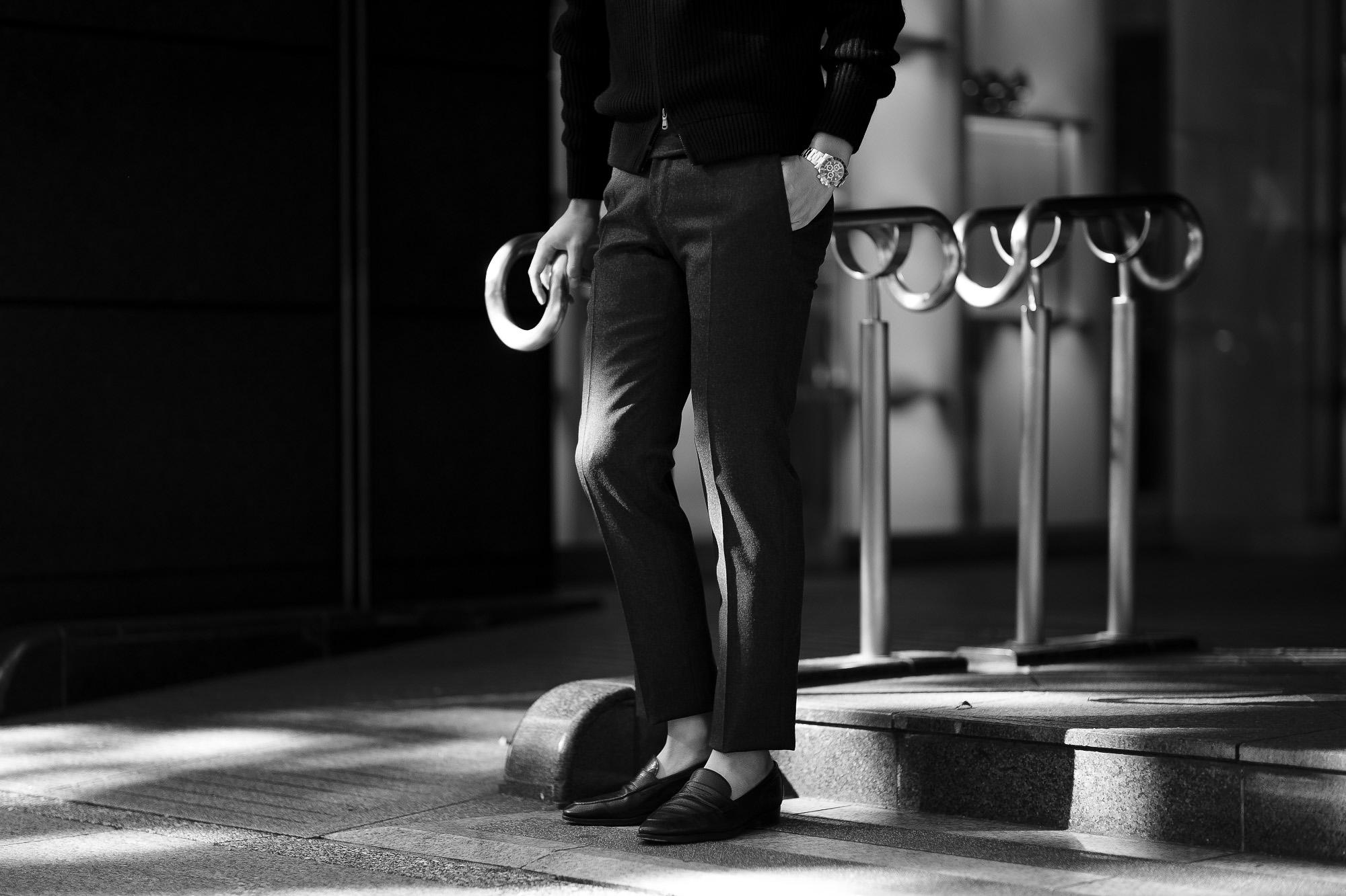 INCOTEX (インコテックス) N35 SLIM FIT (1T035R) URBAN TRAVELER (アーバントラベラー) TECHNO FLANNEL 撥水 ウォッシャブル ストレッチ フランネル ウール スラックス BLACK (ブラック・990) 2020 秋冬 【ご予約受付中】愛知 名古屋 altoediritto アルトエデリット