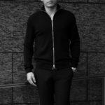 MANRICO CASHMERE (マンリコ カシミア) Super Cashmere Zip Up Cardigan (スーパーカシミア ジップアップ カーディガン) ハイゲージ アラシャンカシミヤニット カーディガン BLACK (ブラック) made in italy (イタリア製) 2020 秋冬 【ご予約受付中】愛知 名古屋 altoediritto アルトエデリット manricocashmere マンリコカシミア