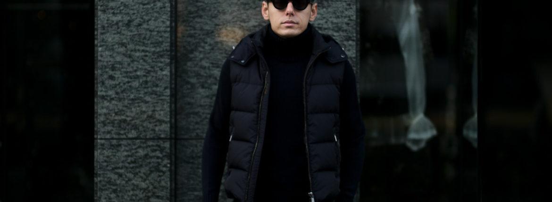 MOORER (ムーレー) FAYER (フェイヤー) Nylon Down Vest ナイロン ダウンベスト VISONE(ベージュ・33),MARMOTTA(ブラウン・35),BLUE(ブルー・78),NERO(ブラック・08) Made in italy (イタリア製) 2020 秋冬 【ご予約受付中】のイメージ