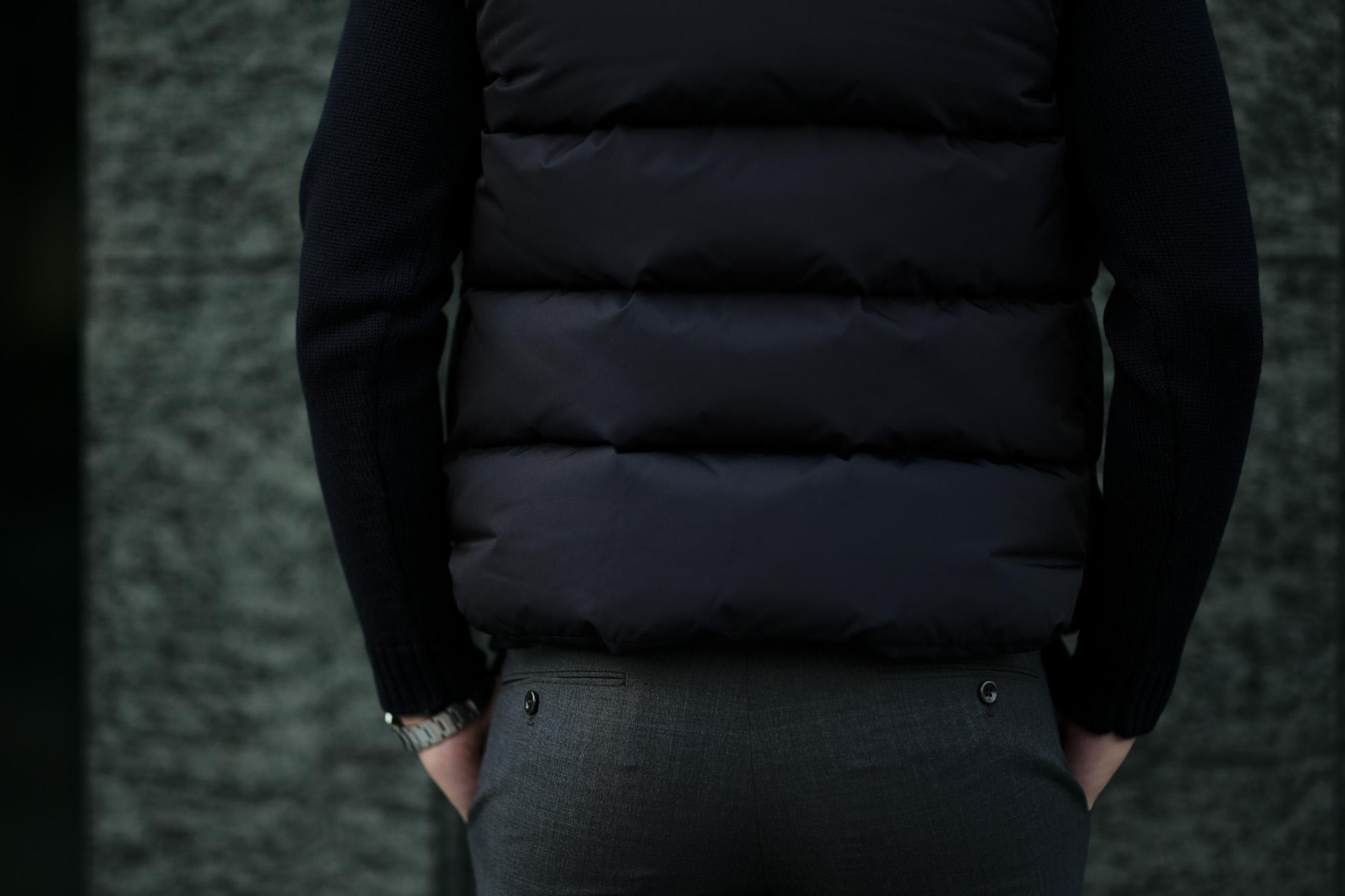MOORER (ムーレー) FAYER (フェイヤー) Nylon Down Vest ナイロン ダウンベスト VISONE(ベージュ・33),MARMOTTA(ブラウン・35),BLUE(ブルー・78),NERO(ブラック・08) Made in italy (イタリア製) 2020 秋冬 【ご予約受付中】愛知 名古屋 altoediritto アルトエデリット ダウンベスト