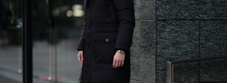 MOORER (ムーレー) HELSINKI (ヘルシンキ) ホワイトグースダウン ナイロン フーデッド ダウンコート NERO(ブラック・08)  Made in italy (イタリア製) 2020 秋冬 【ご予約受付中】のイメージ