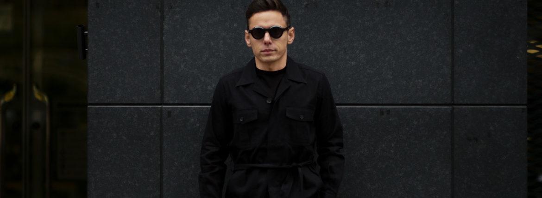 ORIAN (オリアン) LARMY リネンコットン サファリ ジャケット BLACK (ブラック・90) Made in italy (イタリア製) 2020 春夏新作のイメージ