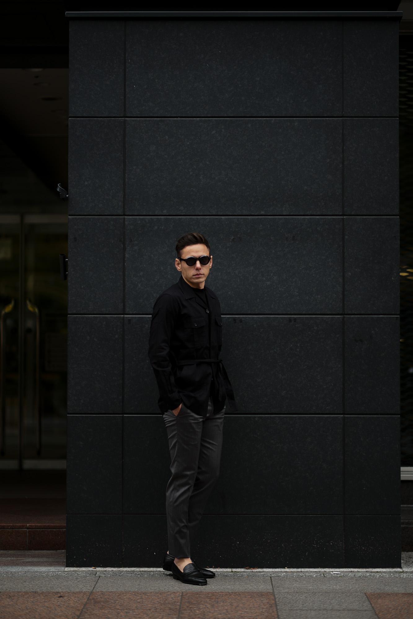 ORIAN (オリアン) LARMY リネンコットン サファリ ジャケット BLACK (ブラック・90) Made in italy (イタリア製) 2020 春夏新作 愛知 名古屋 altoediritto アルトエデリット