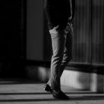 PT TORINO(ピーティートリノ) TRAVELLER (トラベラー) SUPER SLIM FIT (スーパースリムフィット) WASHABLE TECHNO WOOL ストレッチ テクノ ウォッシャブル サージ ウール スラックス CHARCOAL GRAY (チャコールグレー・0260) 2020 秋冬 【ご予約受付中】のイメージ