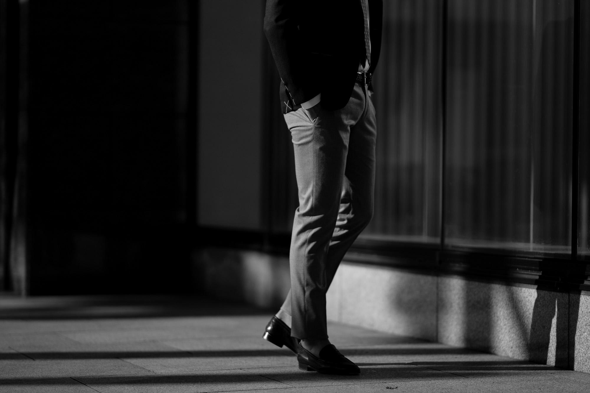 PT TORINO(ピーティートリノ) TRAVELLER (トラベラー) SUPER SLIM FIT (スーパースリムフィット) WASHABLE TECHNO WOOL ストレッチ テクノ ウォッシャブル サージ ウール スラックス CHARCOAL GRAY (チャコールグレー・0260) 2020 秋冬 【ご予約受付中】愛知 名古屋 altoediritto アルトエデリット