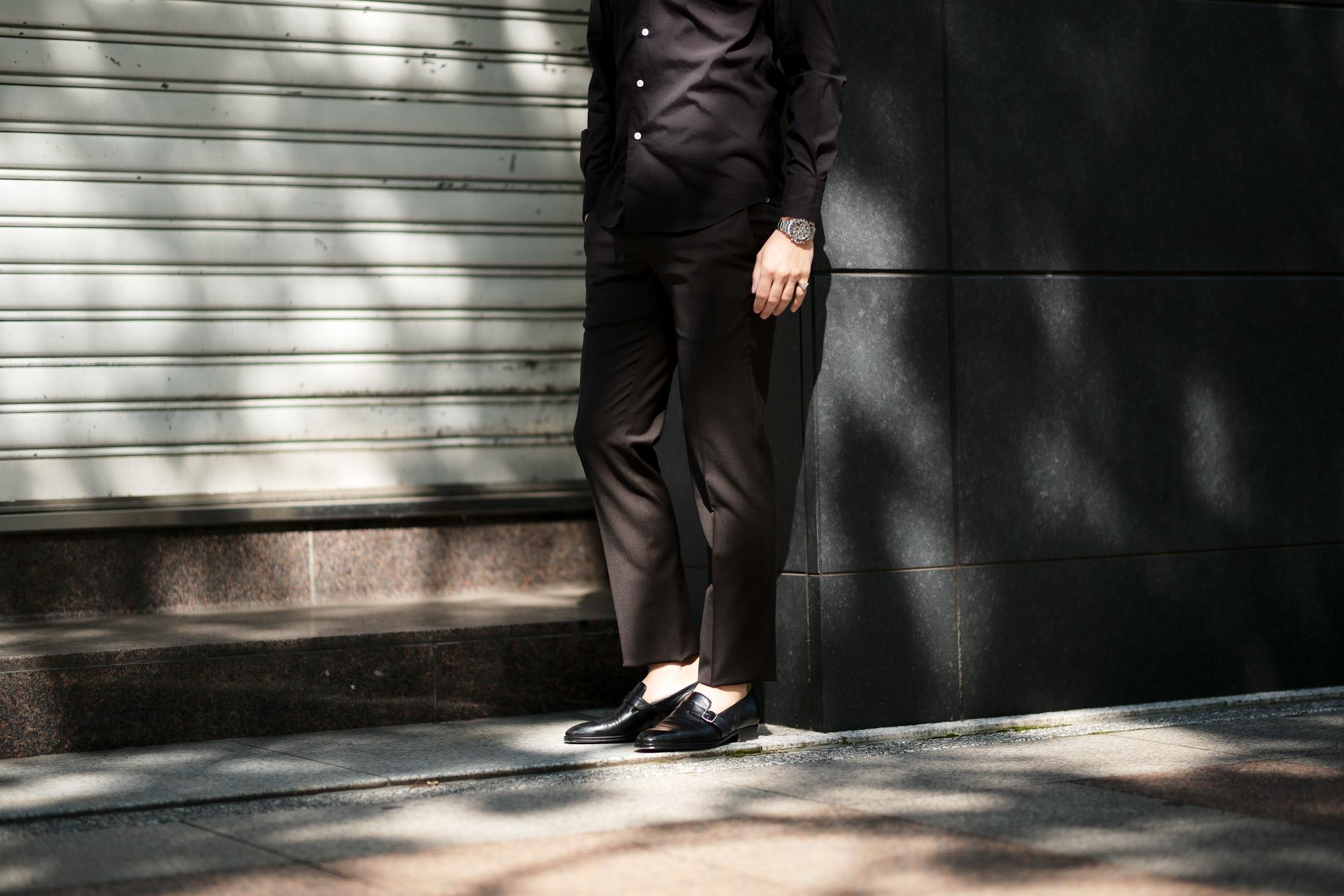 VIGANO(ヴィガーノ) WASHABLE SLACKS (ウォッシャブル スラックス) ウォッシャブル トロピカルウール テーパード スラックス BROWN (ブラウン・386) MADE IN ITALY (イタリア製) 2020 春夏新作 愛知 名古屋 altoediritto アルトエデリット