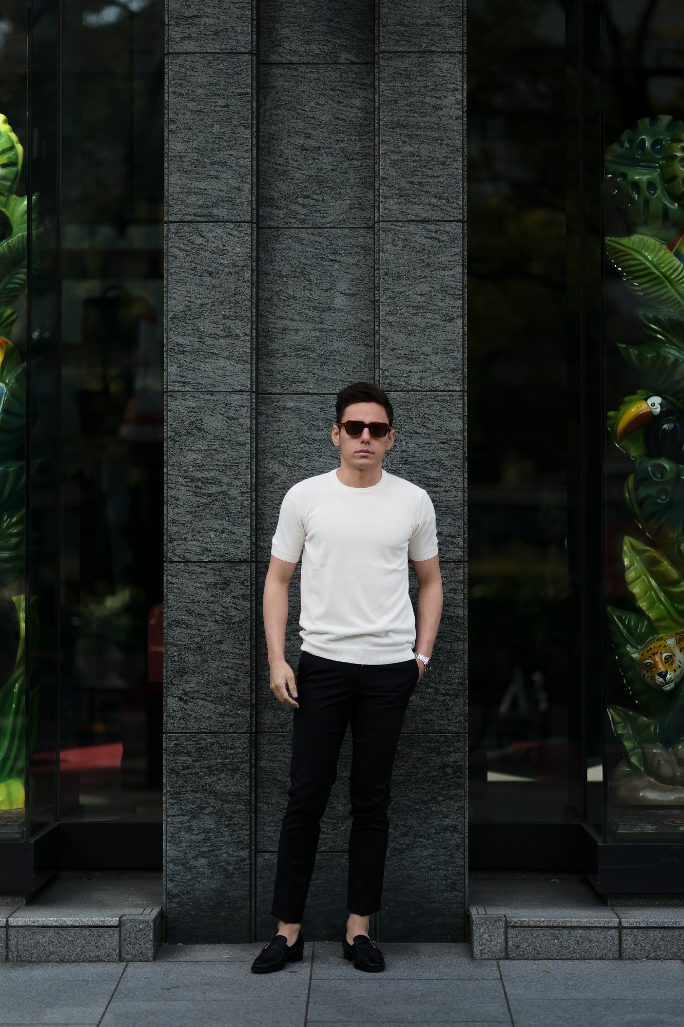 ZANONE(ザノーネ) Knit T-shirt (ニット Tシャツ) コットンニット Tシャツ WHITE (ホワイト・Z3372) made in italy (イタリア製) 2020 春夏新作  愛知 名古屋 altoediritto アルトエデリット