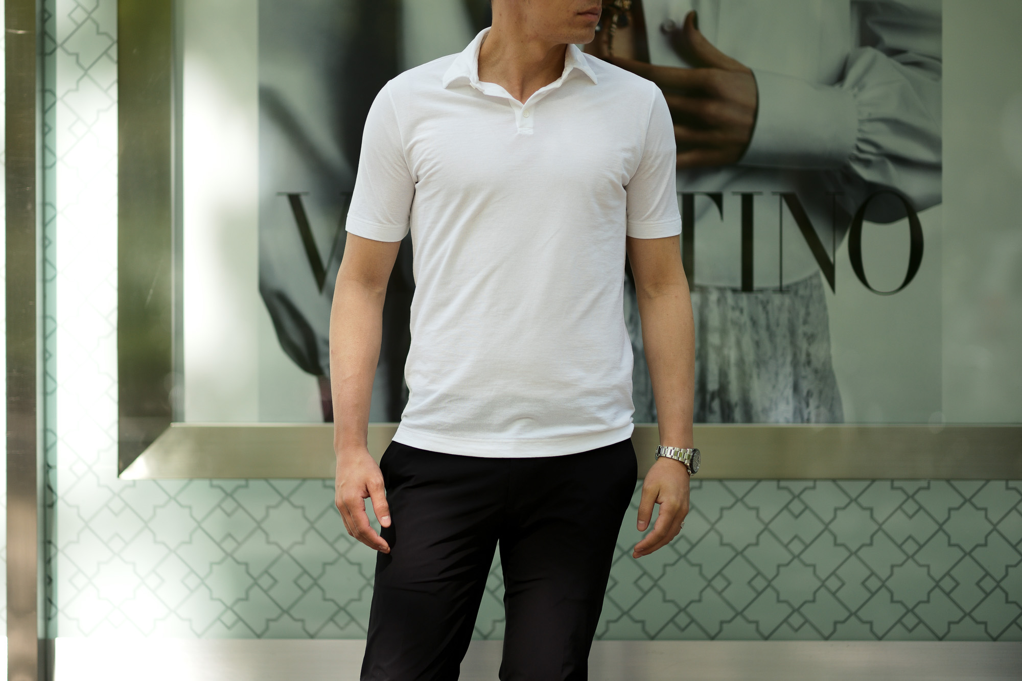 """ZANONE(ザノーネ) Polo Shirt ice cotton アイスコットン ポロシャツ WHITE (ホワイト・Z0001) made in italy (イタリア製) 2020春夏新作 愛知 名古屋 altoediritto アルトエデリット"""" wid"""