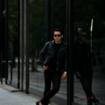 ISAMU KATAYAMA BACKLASH (イサムカタヤマ バックラッシュ) ITALY SHOULDER GARMENT DYED DOUBLE RIDERS No.AL1498-10 (イタリー ショルダー ガーメントダイ ダブルライダース) レザー ダブル ライダース ジャケット NIGHT EMERALD (ナイトエメラルド) MADE IN JAPAN (日本製) 2020 秋冬 【Special Color】【Alto e Diritto別注】【ご予約開始】のイメージ