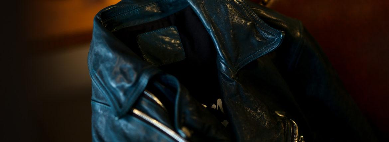 BACKLASH (バックラッシュ) ITALY SHOULDER DOUBLE RIDERS ダブルライダース ジャケット NIGHT EMERALD (ナイトエメラルド) MADE IN JAPAN (日本製) 2020 秋冬 【Special Color】【Alto e Diritto別注】のイメージ