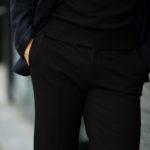 cuervo bopoha (クエルボ ヴァローナ) Sartoria Collection (サルトリア コレクション) Brad (ブラッド) 2WAY SUPER COMFORT JERSEY ストレッチ ジャージ スラックス BLACK (ブラック) MADE IN JAPAN (日本製) 2020 秋冬 【ご予約受付中】のイメージ