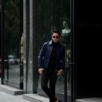 """cuervo bopoha(クエルボ ヴァローナ) Satisfaction Leather Collection (サティスファクション レザー コレクション) JACK (ジャック) LAMB LEATHER (ラムレザー) シングル レザー ジャケット VIOLET BLUE (ヴァイオレットブルー) MADE IN JAPAN (日本製) 2020 秋冬 愛知 名古屋 altoediritto アルトエデリット"""" w"""