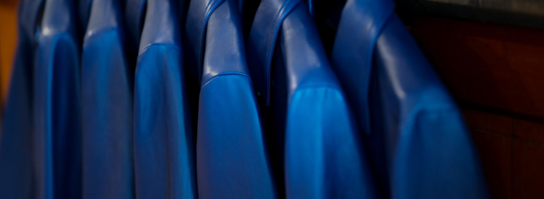 cuervo bopoha(クエルボ ヴァローナ) Satisfaction Leather Collection (サティスファクション レザー コレクション) JACK (ジャック) LAMB LEATHER (ラムレザー) シングル レザー ジャケット VIOLET BLUE (ヴァイオレットブルー) MADE IN JAPAN (日本製) 2020 秋冬新作 【Special Model】【入荷しました】【フリー分発売開始】のイメージ