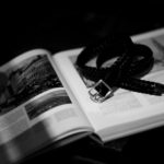 cuervo bopoha (クエルボ ヴァローナ) Sartoria Collection (サルトリア コレクション) Lance (ランス) Cow Hide Leather (カウハイド レザー) メッシュベルト BLACK (ブラック) Made in Italy (イタリア製) 2020 秋冬のイメージ
